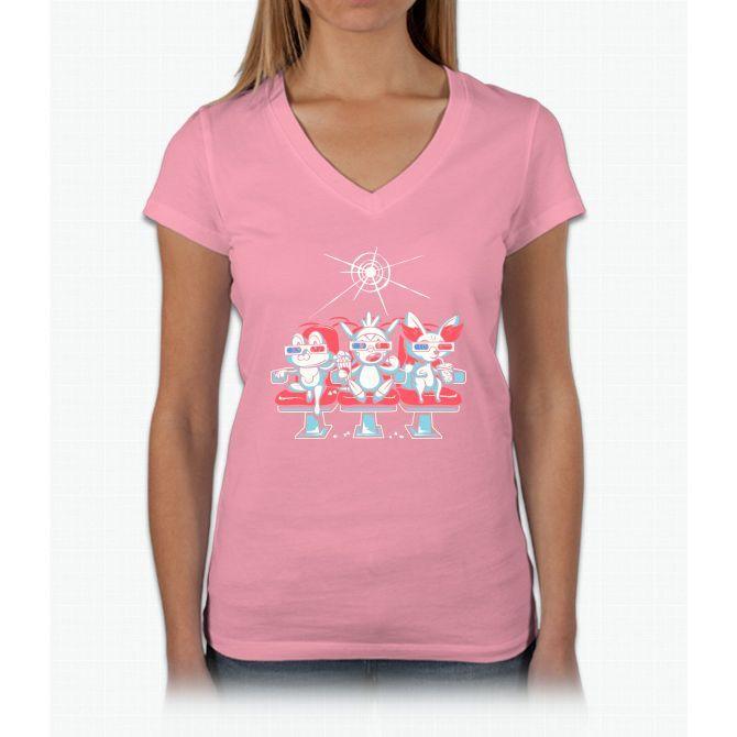 Movie Night Bee Movie Womens V-Neck T-Shirt