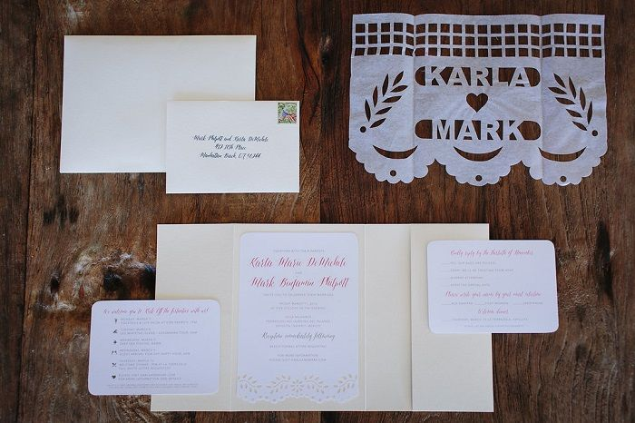 A lace cut-out style invitation suite | Fab Mood #weddinginvitation