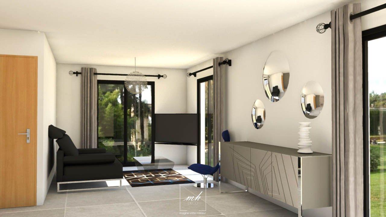 pour att nuer l 39 effet couloir d 39 un salon salle manger. Black Bedroom Furniture Sets. Home Design Ideas