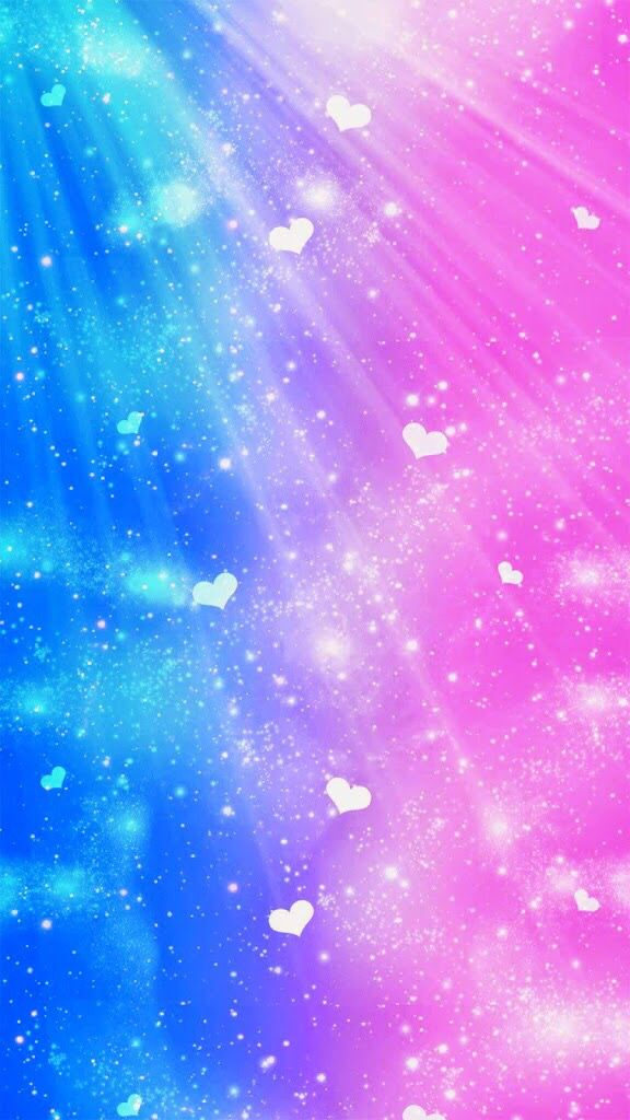 Blue purple and pink