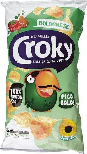 CROKY chips bolognaise 200gr  Référence: CHP1007 CROKY chips Bolognaise sont de délicieuses chips croquantes coupées finements au goût Bolognaise cuit avec 33,1% d'huile de tournesol. meilleur site   aliment www.chockies.net