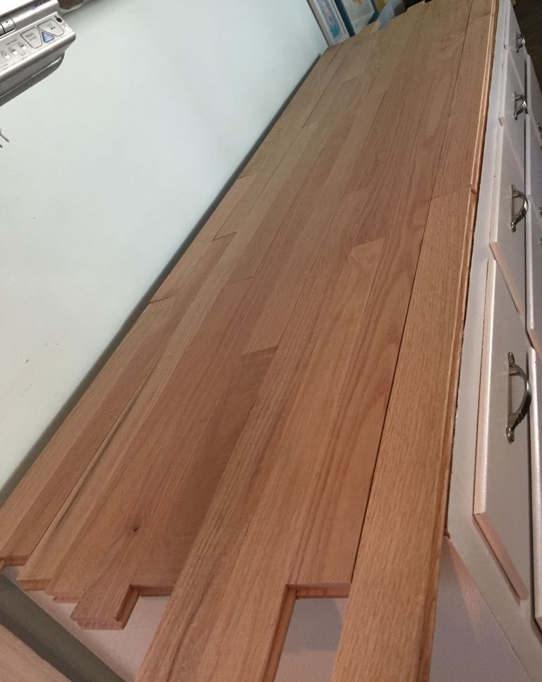 How I Built A Countertop With Hardwood Flooring Hardwood