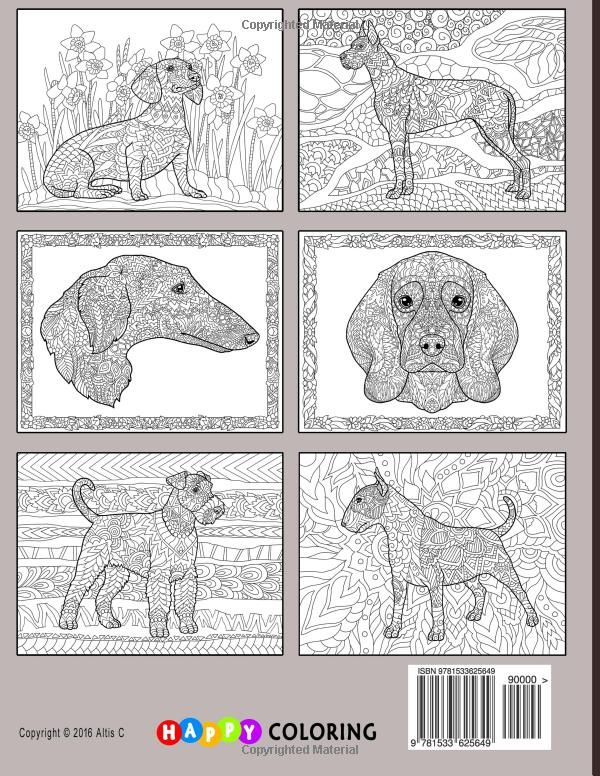 amazoncom doodle dogs coloring book for adults 9781533625649 happy coloring - Ap Coloring Book