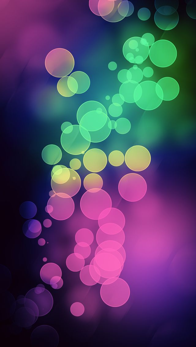 Bokeh Light Multicolor Iphone 5s Wallpaper Download Papeis De
