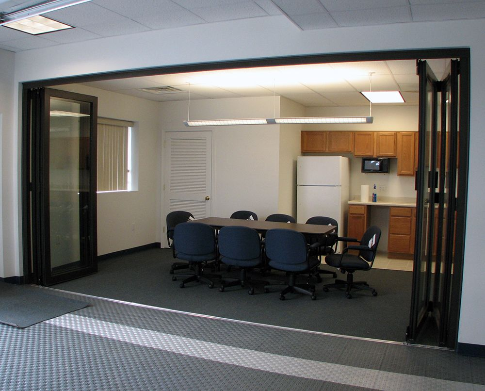 Large sliding doors for commercial interiors google for Sliding door partition wall