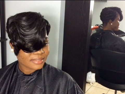 Partial sew in weave for short thin hair youtube hair pinterest partial sew in weave for short thin hair youtube pmusecretfo Images