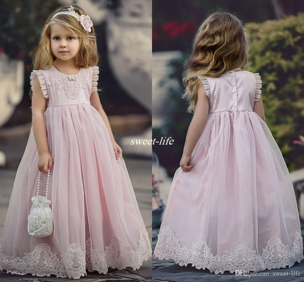 Lovely blush pink flower girl dresses special occasion for weddings lovely blush pink flower girl dresses special occasion for weddings kids pageant gowns a line izmirmasajfo