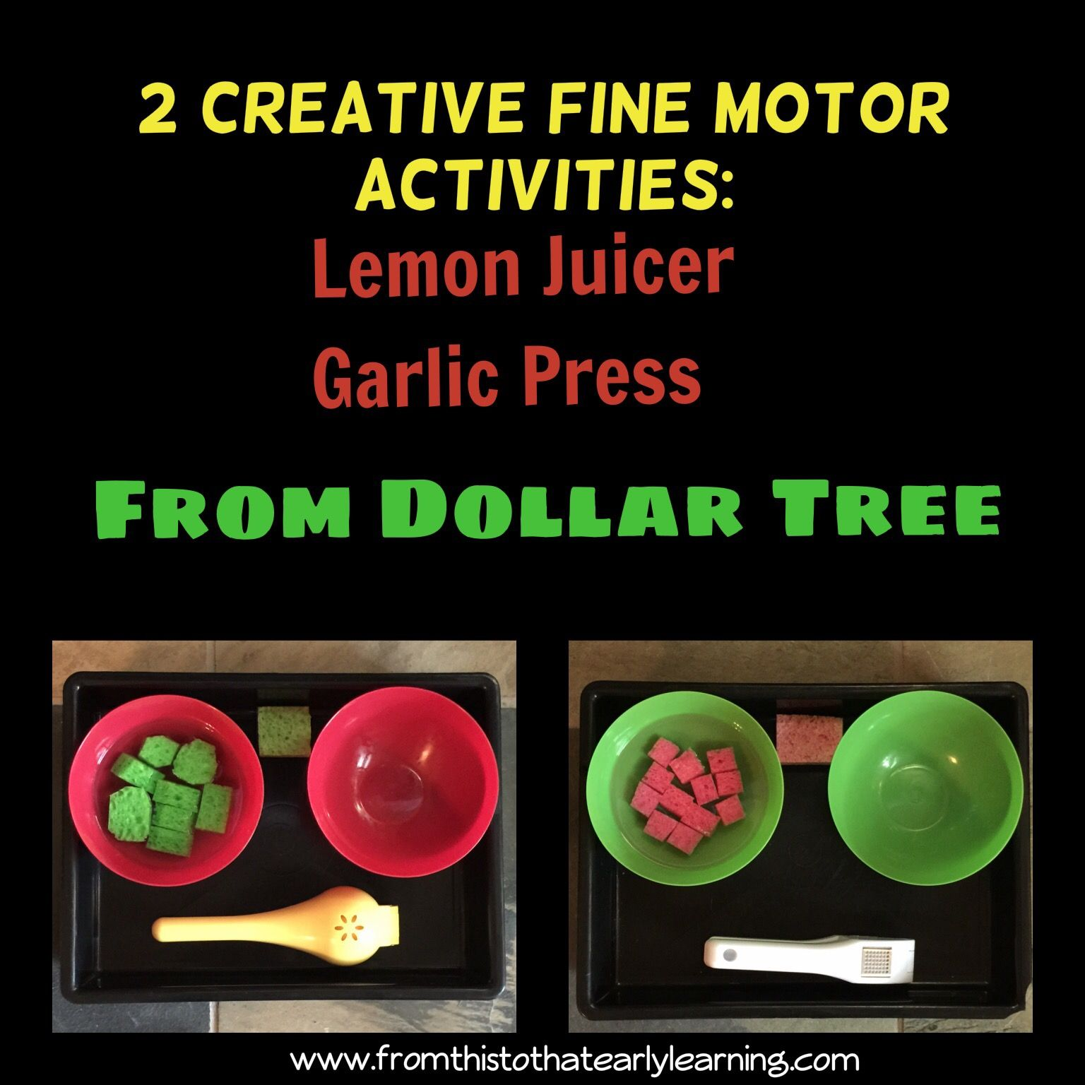 2 Creative Fine Motor Activities From Dollar Tree | From