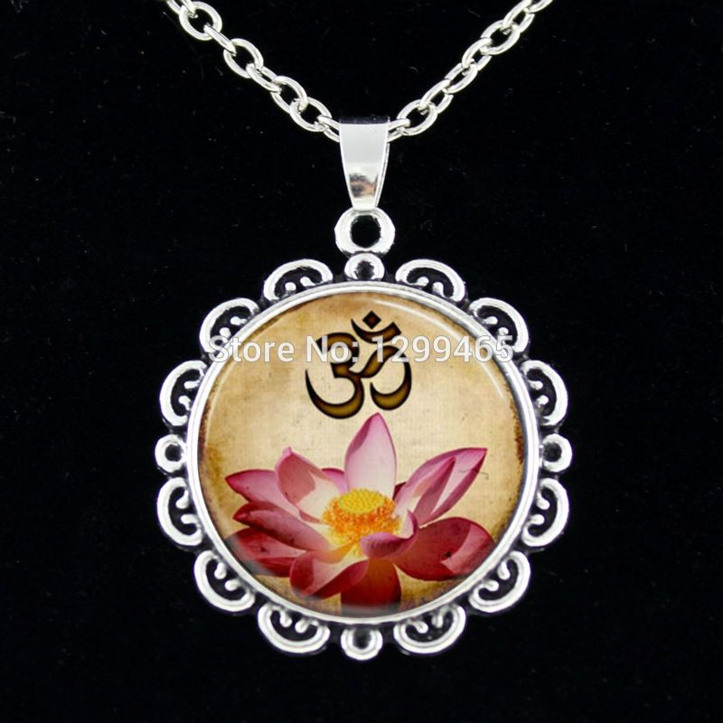 Crystal Buddha Yoga Necklace Discount Handmade Buddhism Mandala Necklace Vintage boho Chakras In Tibetan Necklace C 026