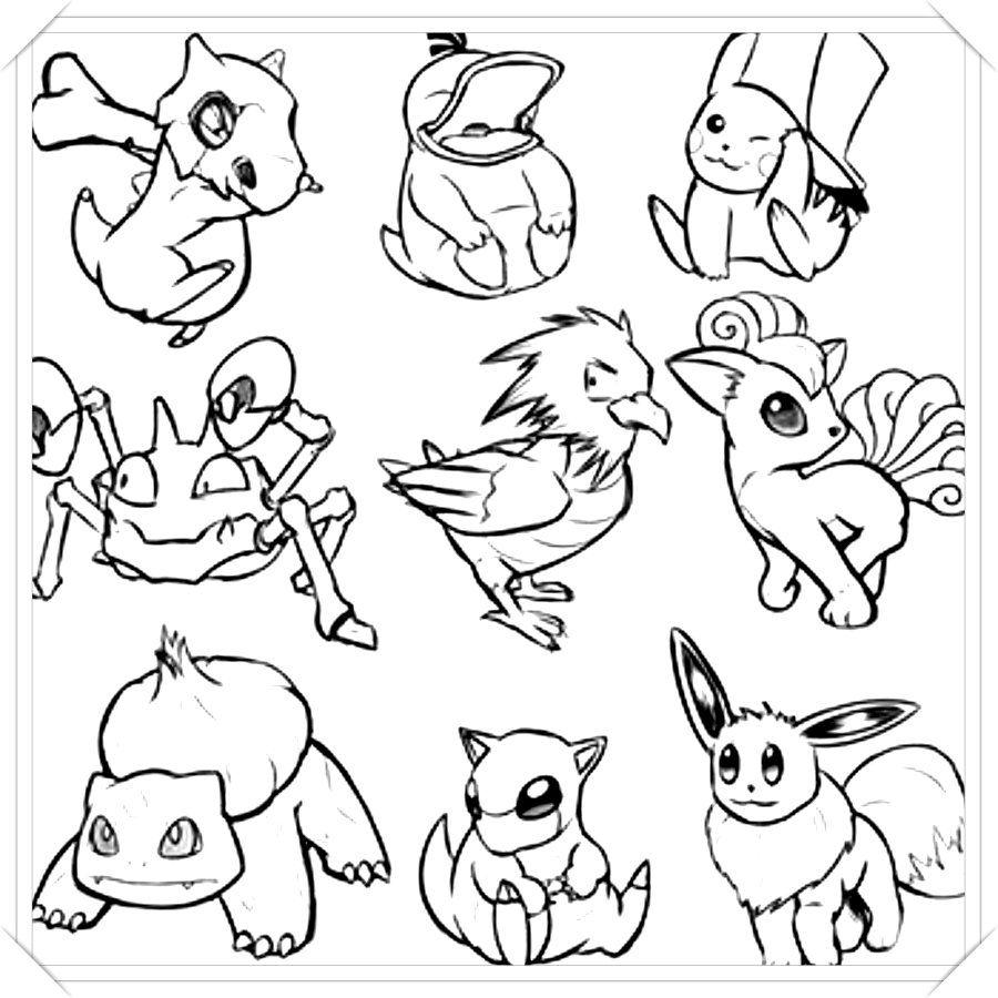 Los Mas Lindos Dibujos De Pokemon Para Colorear Y Pintar A Todo Color Imagenes Prontas Para Descargar E Im Pokemon Coloring Pages Pikachu Art Pokemon Coloring