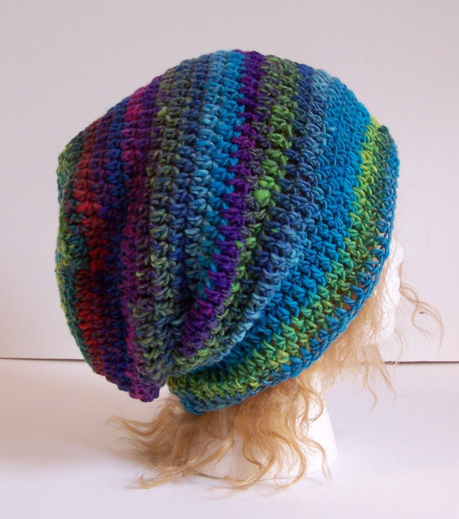 Outlier Slouchy Toque in a worsted weight version. Free pattern on Ravelry & Craftsy.