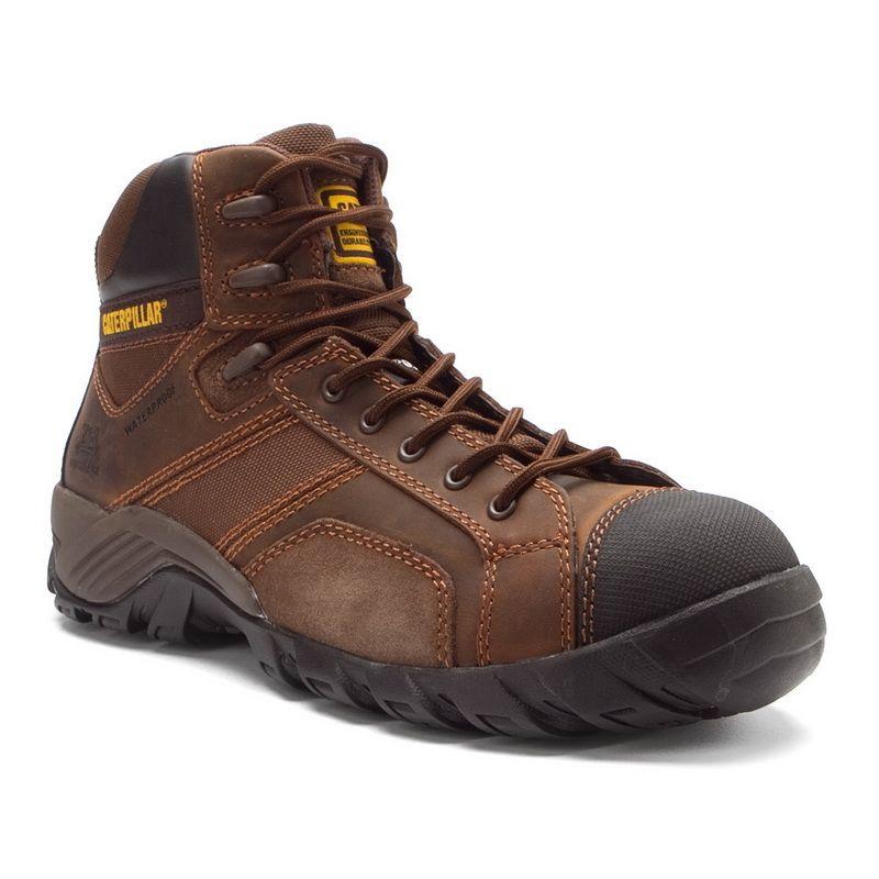 Cat Footwear Dark Brown Argon Hi Waterproof Composite Toe Work Boot