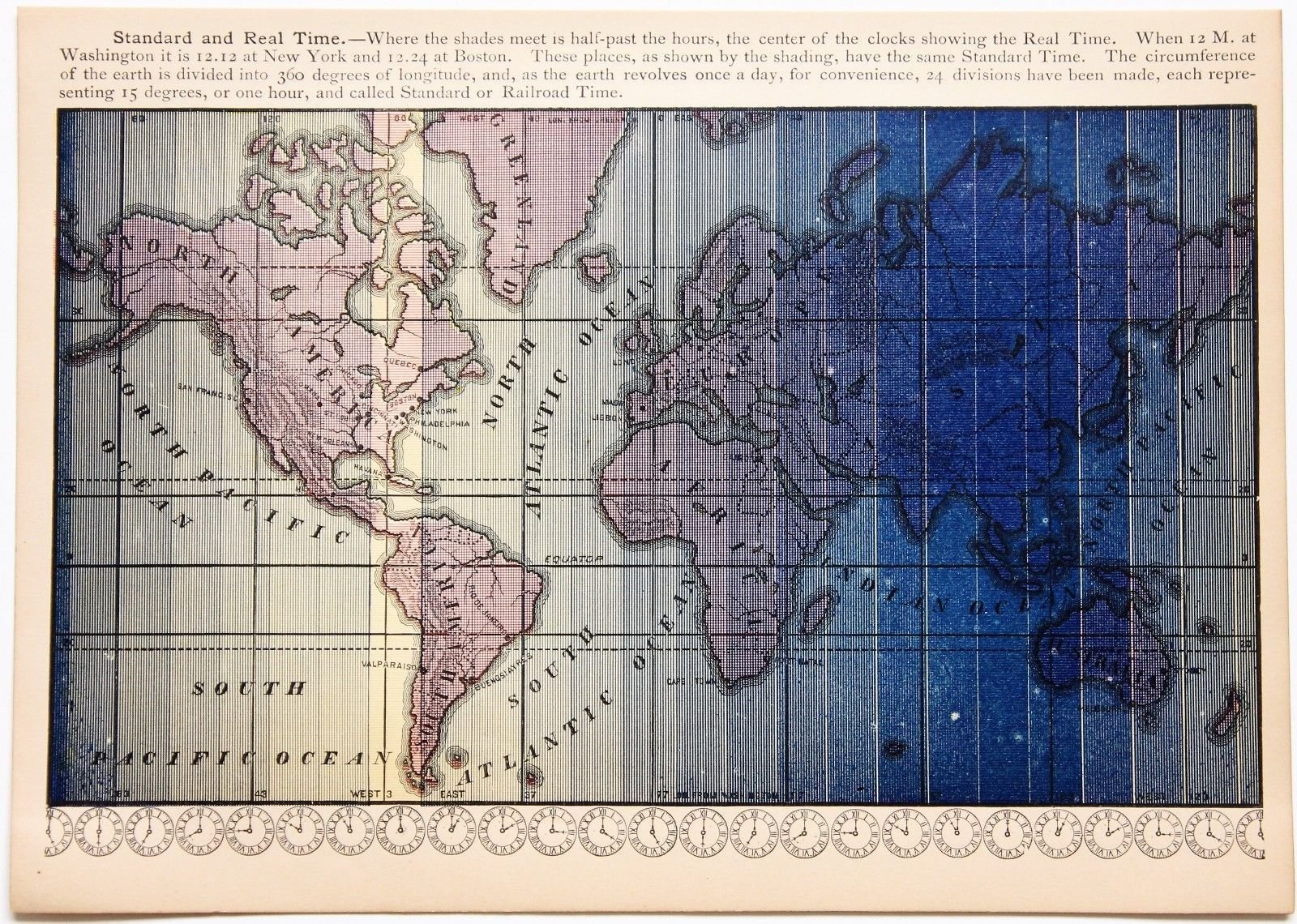 1886 world time zone map north america africa asia south america 1886 world time zone map north america africa asia south america rare original gumiabroncs Gallery