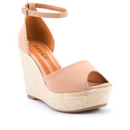 4c6cb16ab Sandália Summer Anabela em Linho Areia - Studio Z Calçados | sapatos ...