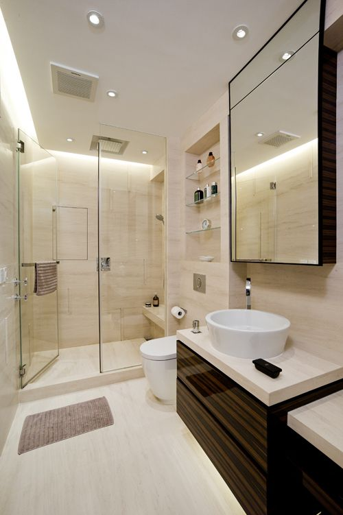 Merveilleux Ensuite Shower Head At The Same End As Taps (opposite Bench Seat)
