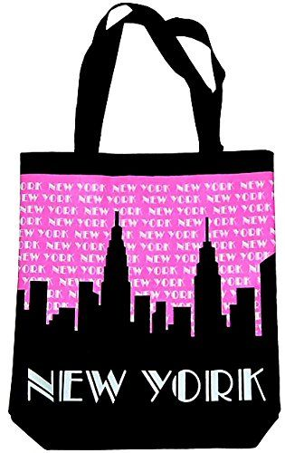 New York Tote Bag - Pink Sky Canvas, New York City Tote Bags, NYC ...