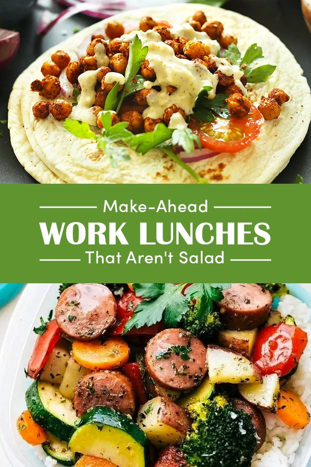 14 Wholesome Work Lunches You Can Pack In The Morning
