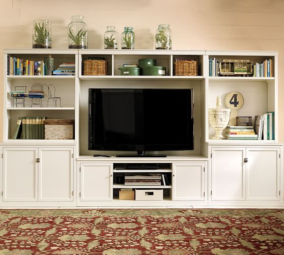 Great Logan Large Media Suite | Pottery Barn. Long Term Option For Media Wall,  Alternative