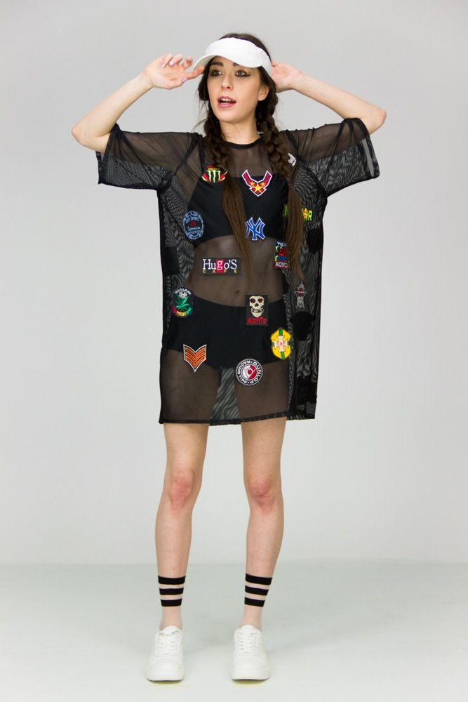 1e980770b8f Oversized Patch Mesh T-shirt