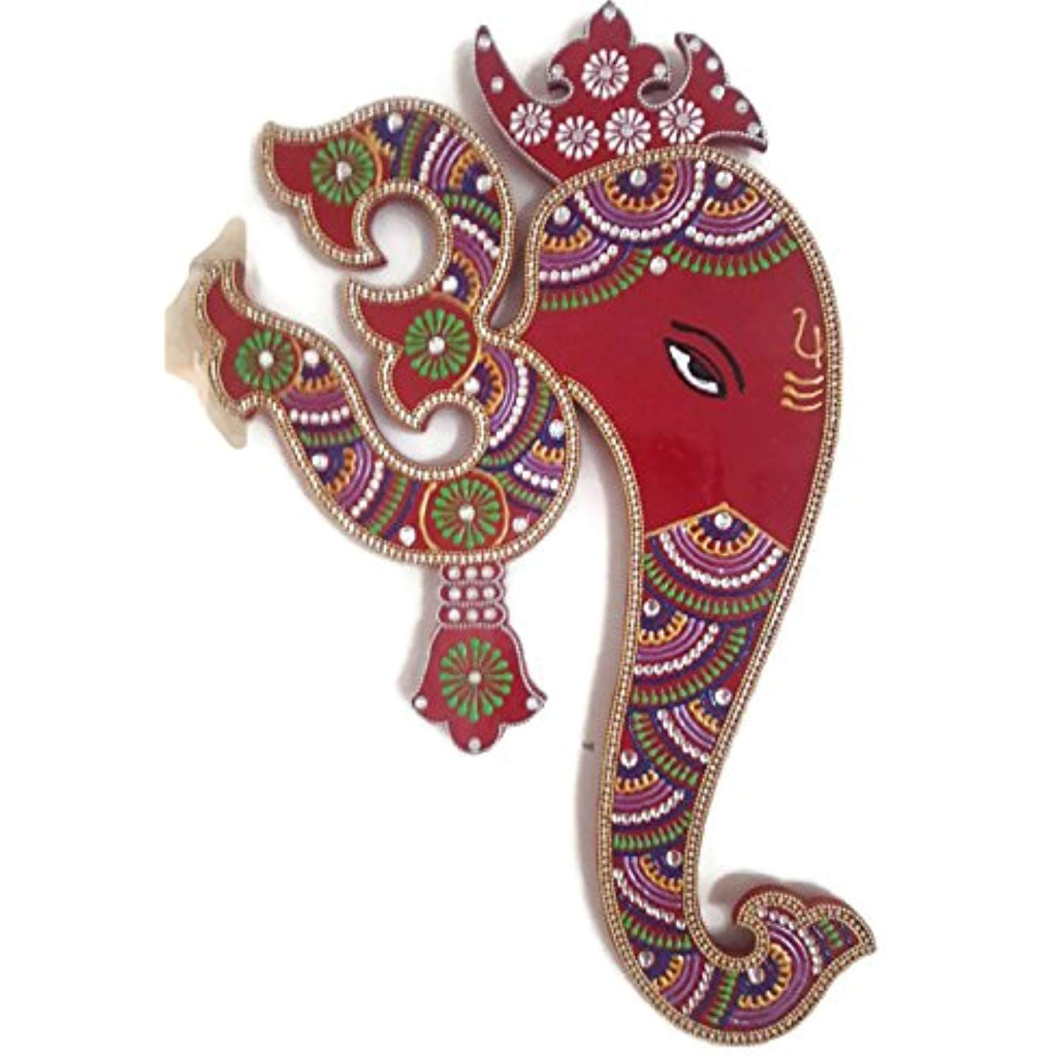 Indian Wall Decor Artwork From India Hindu God Ganesh With Om Wall Hanging Painting See This Great Indian Wall Decor Wooden Wall Hangings Spiritual Decor