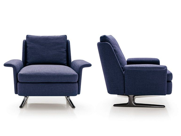 Upholstered Armchair With Armrests Spencer Series By Minotti Design R D Armchair Minotti Futuristic Interior