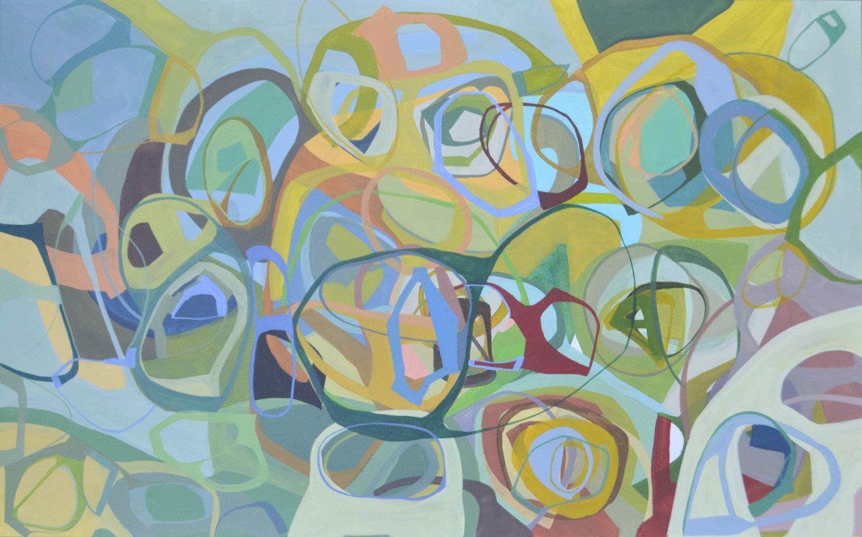 Acrylic paintingmodern art mid centurycanvas art