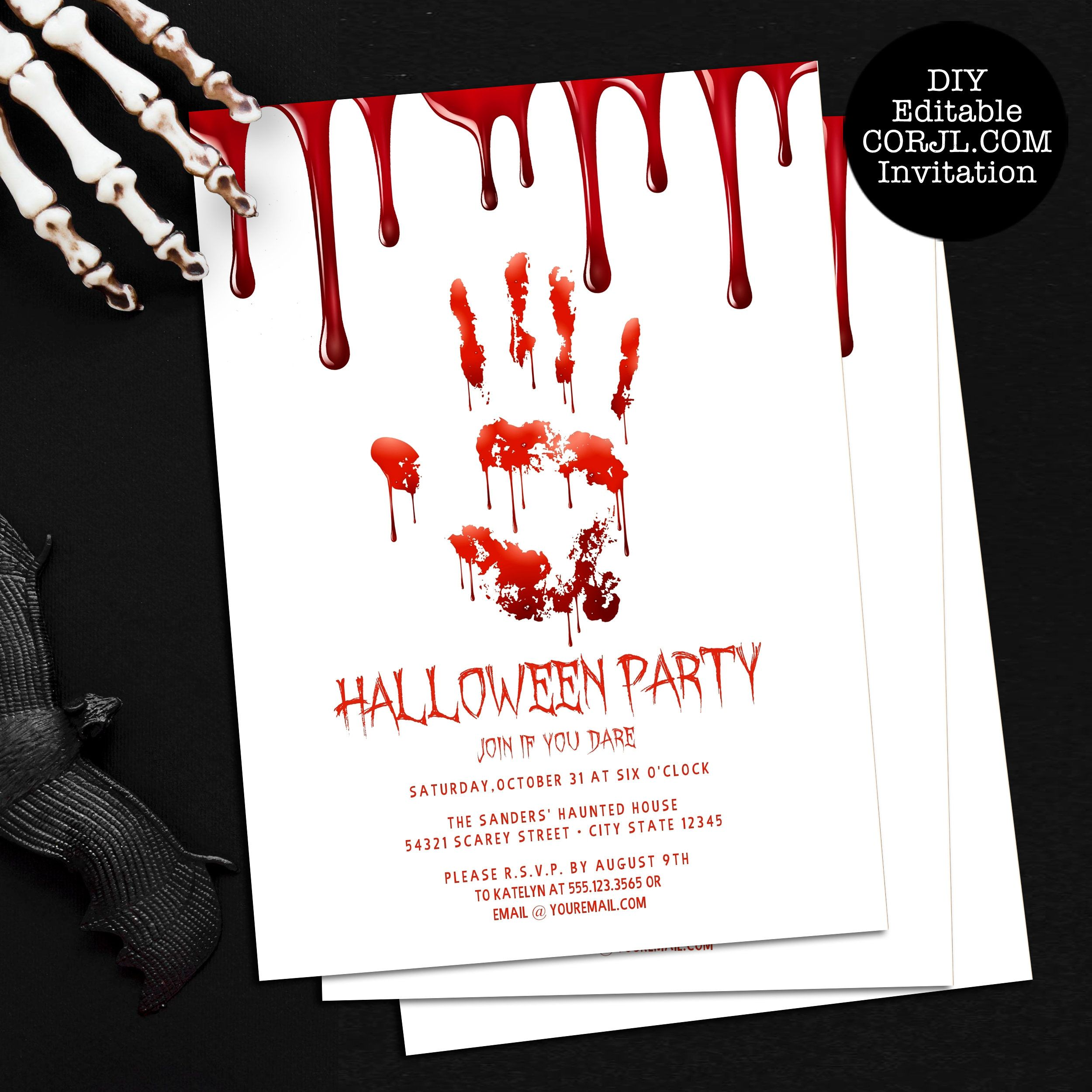 Pin on Halloween Invitations and Decorations