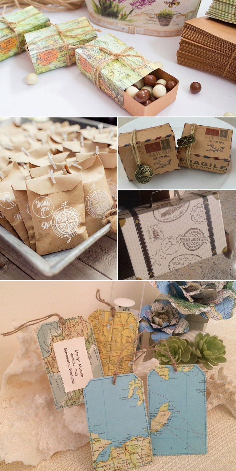 Wedding Favor Ideas For Guests Where To Get Wedding Favors Really Cool Wedding Favors Travel Party Theme Travel Theme Bridal Shower Travel Theme Wedding