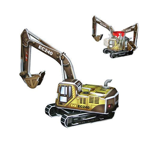 Paper Toy Scale Model Kit for Kids Adult - Scholas Paper World Excavator