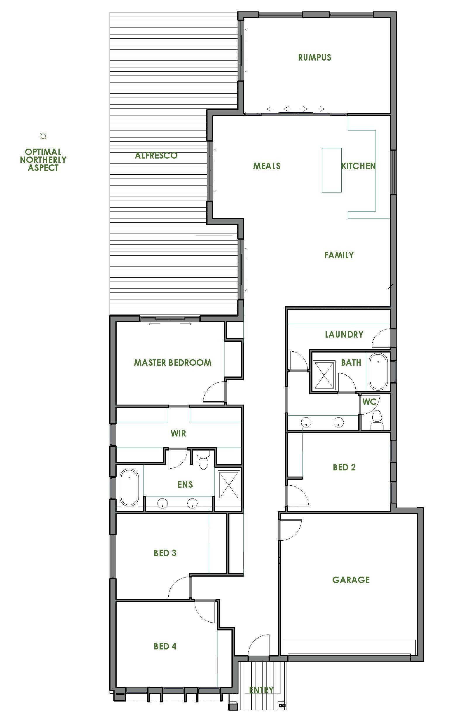 The Rosedale home design is contemporary, affordable and