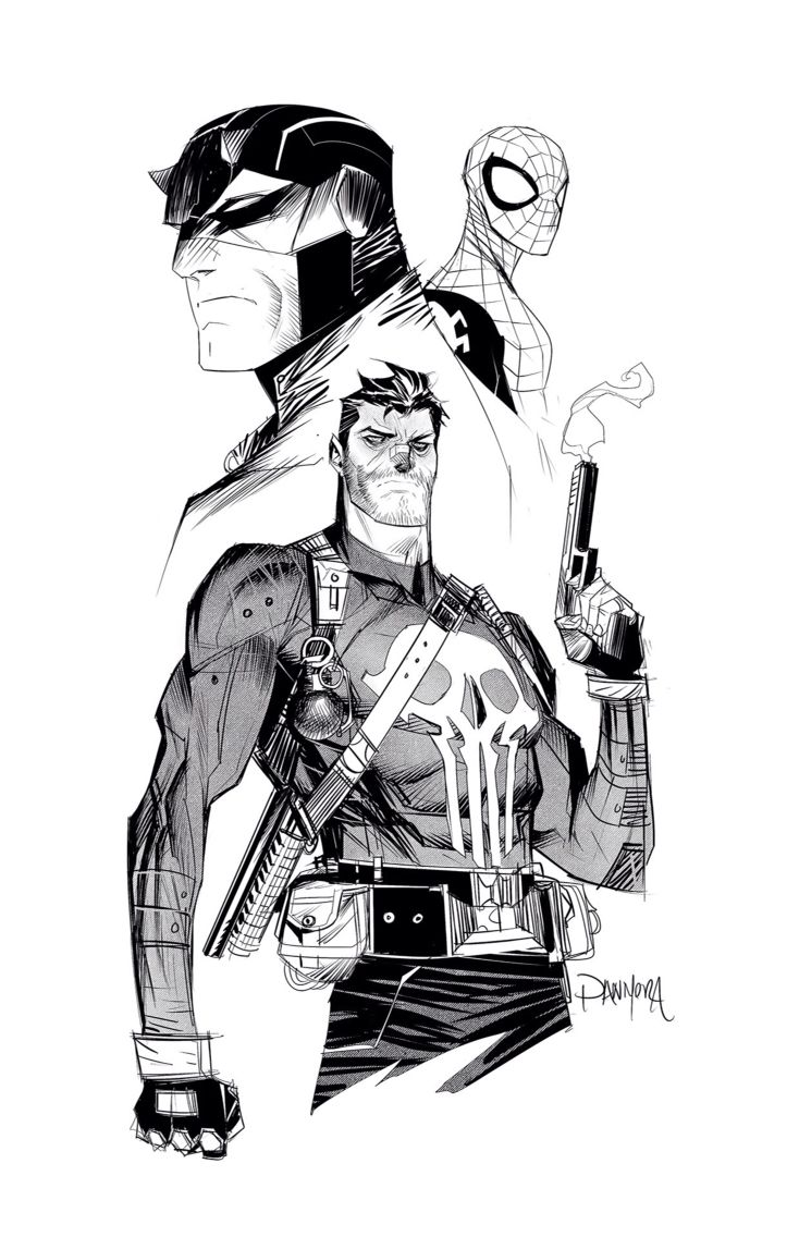Comic Book Badasses by Dan Mora