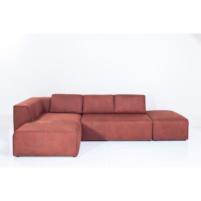 Sofa Infinity Antique 54 Ottomane Left Rust   KARE Design