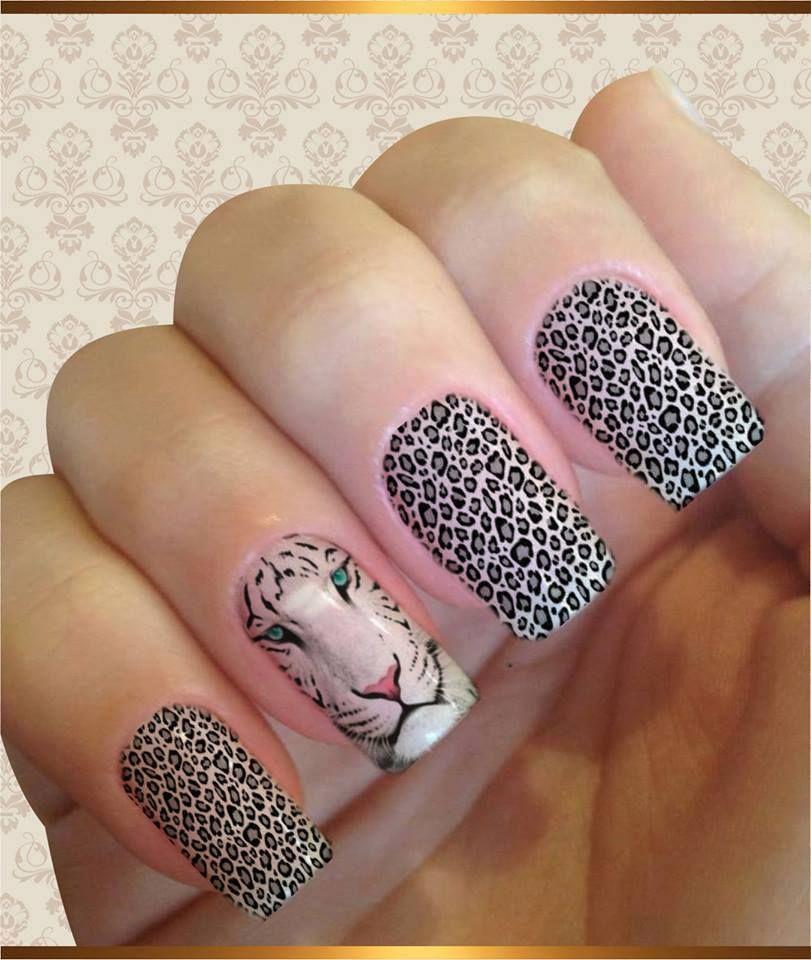 Tigresa Uñas Pinceladas Pinterest Uñas Arte De Uñas Y