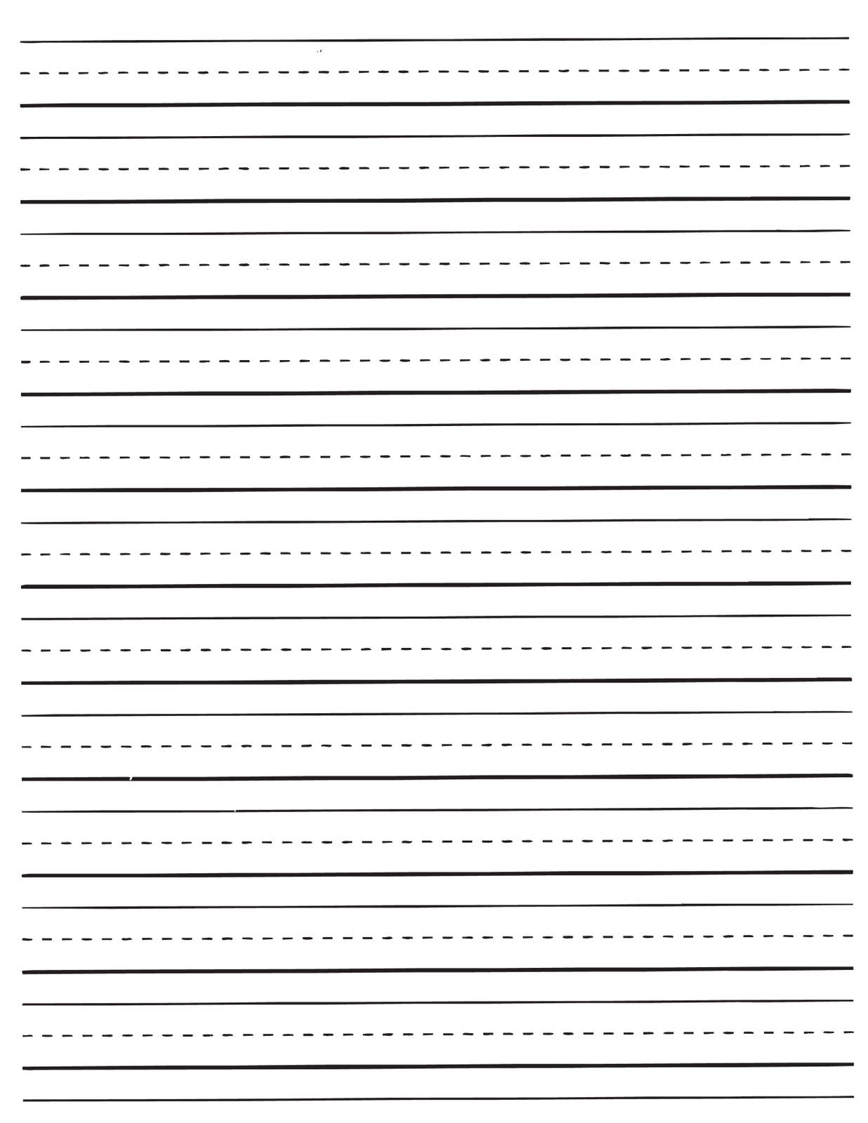 Lined Paper For Kids 3
