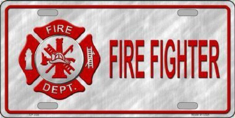 Firefighter Fireman Maltese Cross Fire Department License Plate Car Truck Tag