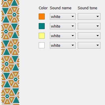 Orange - free seed beads crochet bracelet design pattern.