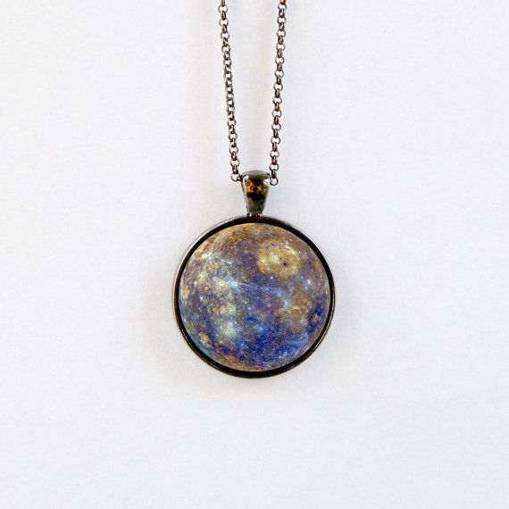 Outer Space Jewelry  Pendant Necklace  Solar System by 162PENS