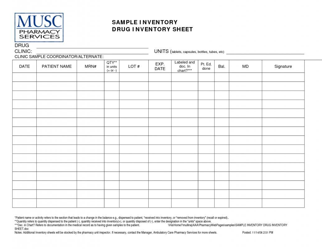 medication inventory spreadsheet business templates templates