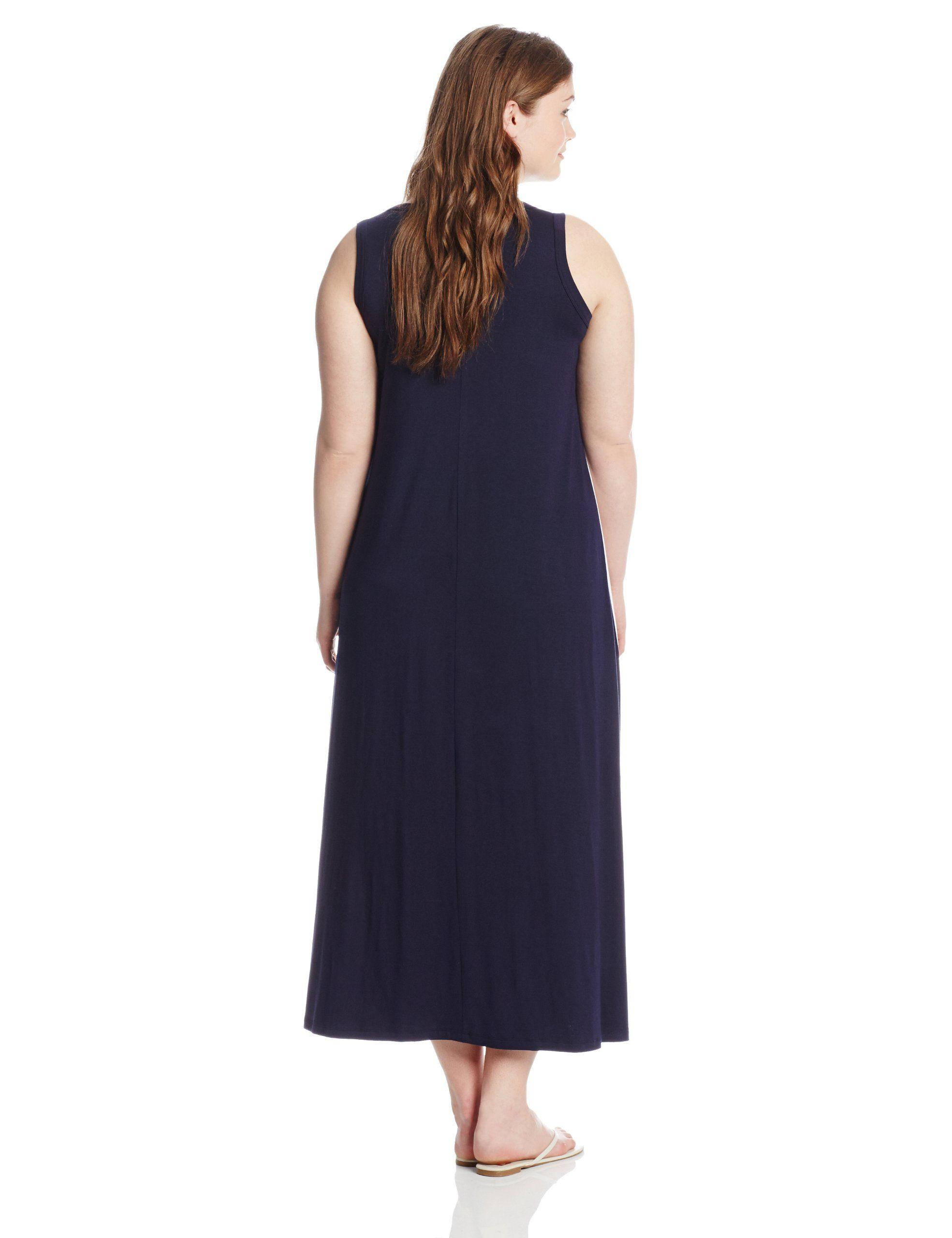 Karen Kane Women S Plus Size Fashion Navy And White Side Insert Maxi Dress Available At Amazon Women S Clothing Store Karen Plus Size Fashion Maxi Dress Women [ 2560 x 1969 Pixel ]