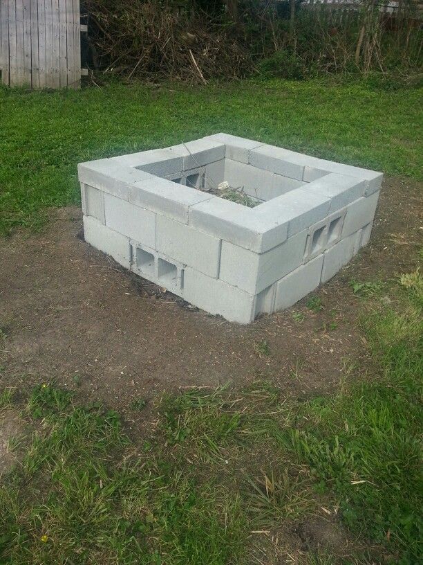 This is the #firepit i just built! One thing I learned was ... on Diy Cinder Block Fireplace id=30403