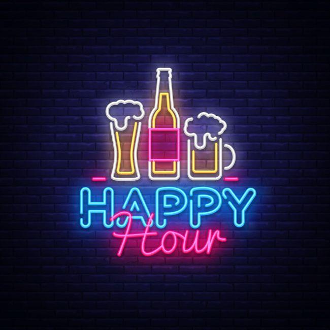 Beer Bar Happy Hour Led Neon Sign Neon Signs Neon Bar Signs Neon Wallpaper