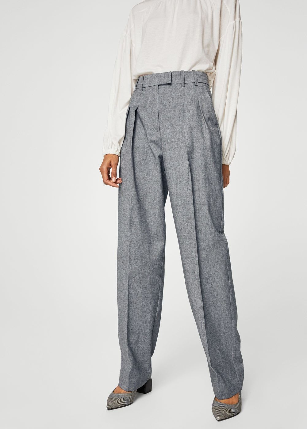 Pantalón detalle pinzas - Pantalones de Mujer  df53a9ae1919