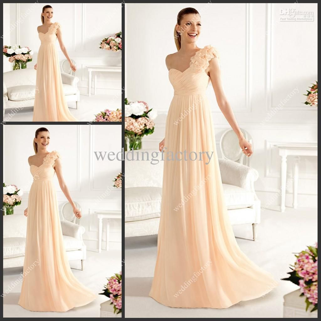 one shoulder bridesmaid dress a line ruched chiffon