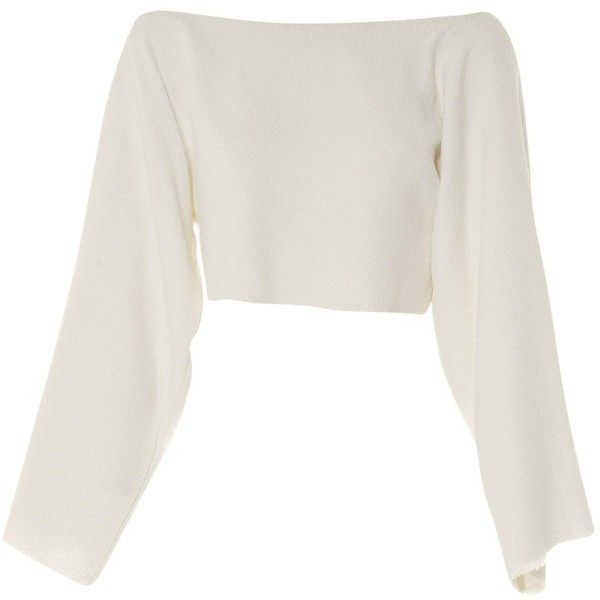 0905be3e92d Pre-owned Céline White Viscose Top ( 356) ❤ liked on Polyvore featuring tops