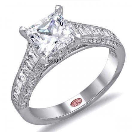 Demarco Princess Cut Diamond Baguette Engagement Ring