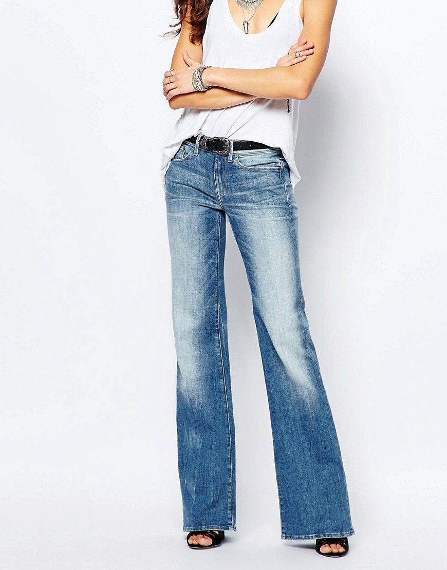 ab28a8dd1c6 Image 1 of G-Star 3301 High Rise Boyfriend Flare Jeans | asos ...