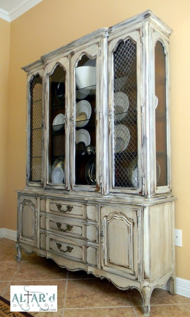 Product 063: Distressed French China Cabinet From Altar'd