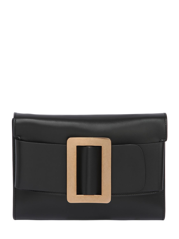 Buckle Travel Leather Clutch, Black   Boyy   Pinterest   Leather ... 872f660e50