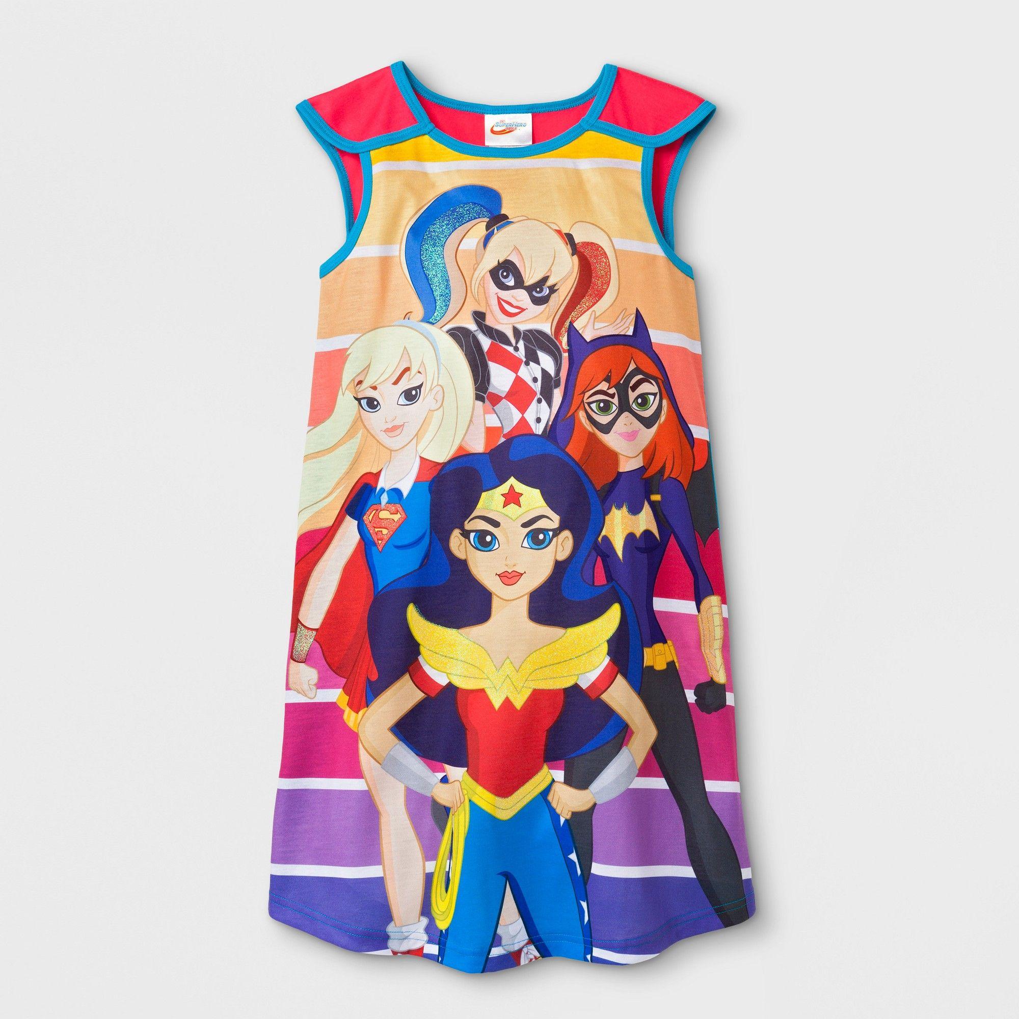 06164bcc946 Girls' DC Super Hero Girls Sleeveless Nightgown - XS, Multicolored ...
