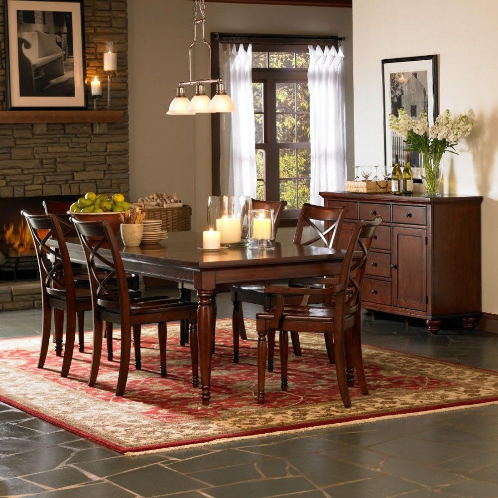 Aspen Home Cambridge Leg Dining Table Set In Brown Cherry  Classy Best Cherry Dining Room Chairs Sale Decorating Inspiration